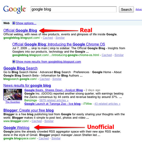 google blog - Google Search