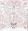 maori style sketch for calf
