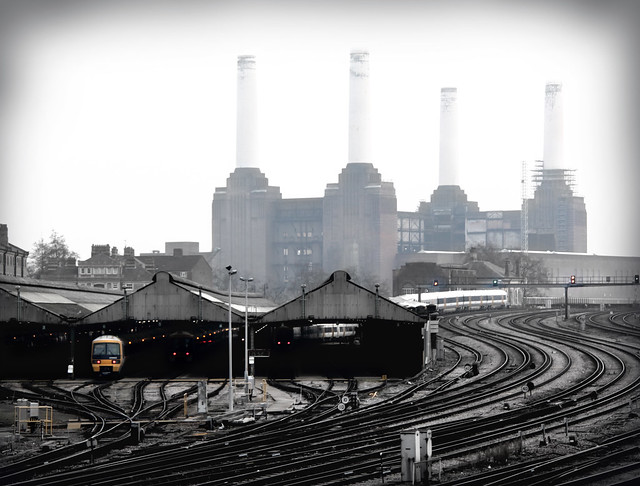 Battersea Power Station from Ebury Bridge, Belgravia