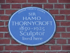 Photo of Hamo Thornycroft blue plaque