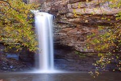 Cedar Falls in autumn (photogg19) Tags: autumn creek river waterfall arkansas ozark cedarcreek cedarfalls potofgold petitjeanstatepark morrilton nikond40 elitephotography
