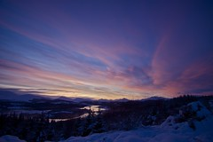 Sunset Over Loch Garry, 1st Jan 2010 (slynkycat) Tags: sunset scotland raw january glen garry 2010 lochgarry flickraward flickraward5 feelingscolour