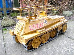 Rommel's Half-track Model Made From Cardboard And Recycled Materials - 3 of 5 (Kelvin64) Tags: world red two people rescue game art cars car sex truck germany painting fire pc video cool corgi artwork model san war tank sony hitler engine andreas joystick vehicles international anderson lorry 1940s german ps1 churchill vehicle british trucks thunderbirds ps2 joypad emergency gta adolf console playstation winston tender diorama erwin raf matchbox gerry rommel 40s brigade halftrack dinky savanna germans wwll lorries ps3