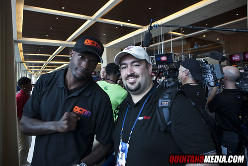 Super Bowl Media Day Sun Life stadium - Chad Ocho Cinco and the OCNN network