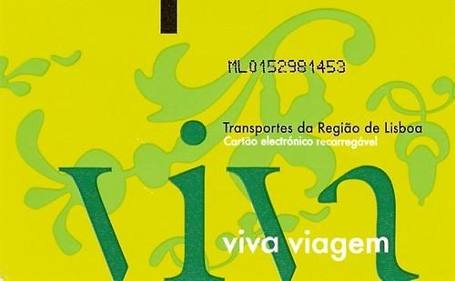 Cartão metrô Lisboa
