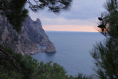 Cape Aya (yuriye) Tags: winter sea cloud snow rock aya russia cape crimea крым мыс айя