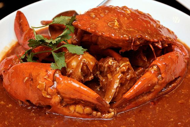Sri Lanka Crab: Chilli Crab $4.50 per 100g