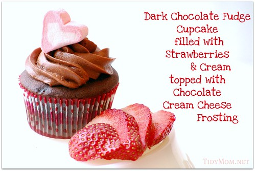 Chocolate Strawberry Cupcakes by Tidy Mom