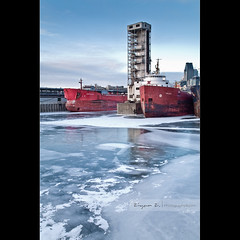 The Old-port on ice (Ziyan | Photography) Tags: blue winter snow canada ice port sunrise canon boat quebec montreal oldport   24105    blackcard ziyan        panoramafotogrfico