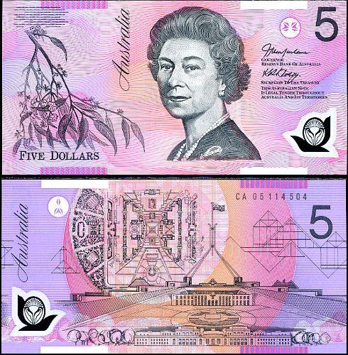 5 dolárov Austrália 2004-6 P57