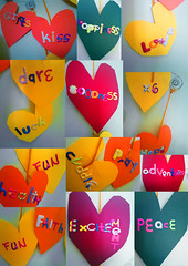 Valentine's day (Art Fountain) Tags: collage hearts day valentines colourful