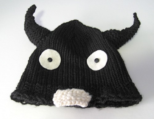 Black monster hat