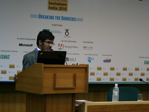 Srinivasu presenting at Techshare India 2010