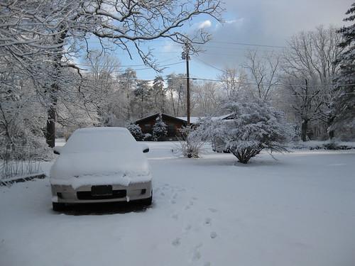 My snowy car