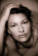 Isa (Ursula Ortiz) Tags: portrait blackandwhite blancoynegro girl beautiful face nose eyes nikon chica retrato cara lips ojos labios belleza nariz nikond200