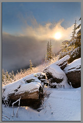 Sunrise in the Clouds... (Andrew Kumler) Tags: clouds oregon forest sunrise nikon andrew national sunburst freshsnow umpqua d300 1224mmf4 kumler