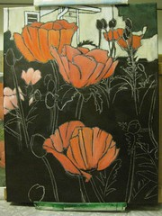 Poppies in progress