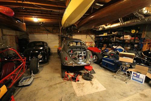 Garage full of toys