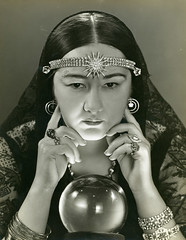 Female Fortune Teller (Missouri History Museum) Tags: mystery reading magic dramatic fortune vision seeing future jewels gypsy fortuneteller crystalball adorned lookingdeeply stlouisrussellfroelichmhmidn33296people