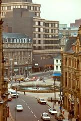 Top of Surrey Street & Fargate, Sheffield 1981 (jayteacat) Tags: uk sheffield southyorkshire fargate surreystreet sheffieldin1981 fargatefountainsheffield