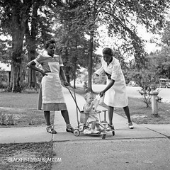 A Stroll in the Park  | 1940 (Black History Album) Tags: mississippi negro 1940s africanamerican maids segregation nannies oldsouth coloredpeople farmsecurityadministration marionpostwolcott vintagepoto blackhistoryalbumcom houseservants