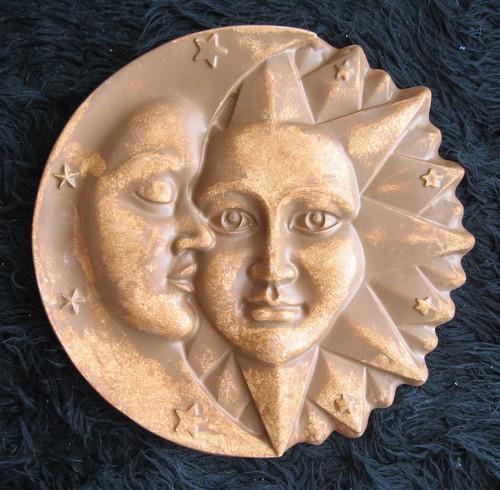 "CELESTIAL HARMONY WALL SCULPTURE STATUE SUN & MOON 16"" www.NEO-MFG.com"