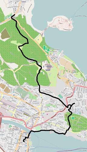 Jakobsweg von Litzelstetten nach Konstanz (basierend auf einer Karte von openstreetmap.org)
