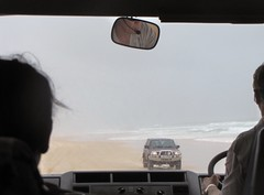 Driving on Cathedral Beach