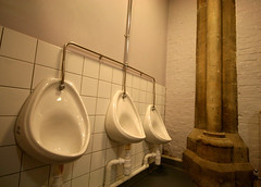 Holy water? (Peter Denton) Tags: uk england london church gothic pillar eu urinals lavatory westlondon artscentre holywater localhistory teddington londonist canoneos400d stalbanthemartyr londonboroughofrichmond landmarkartscentre communityhistory peterdenton