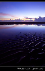 Pre Dawn Nudgee Beach (Stuart Addelsee) Tags: ocean morning light sky cloud seascape color colour reflection beach nature water beautiful skyline contrast photoshop sunrise canon dark landscape geotagged photography eos coast photo still day colours view sigma australia wideangle brisbane explore mangrove 7d qld queensland 1020mm lightroom waterscape 10mm nudgee