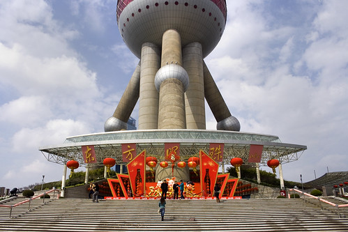 Image Oriental Pearl TV Tower, Shanghai, China, Copyright © Daichi Fukagawa