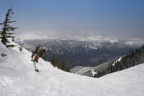 Vue sur la vallee de Whistler