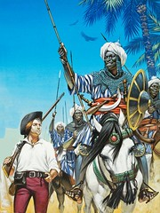 Nubian Warriors (cool-art) Tags: africa horses black desert african muslim sudan helmet empire warrior warriors sultan turban armour cavalry islamic nubian africano sudanese