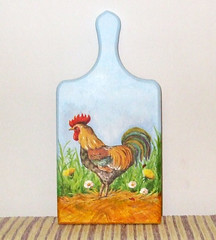 "Cutting board ""Cock walks"""