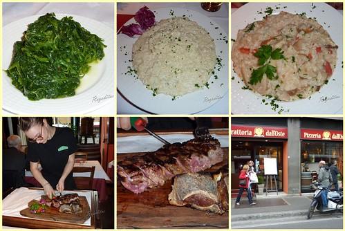 Comida en Trattoria dall'Oste en Florencia