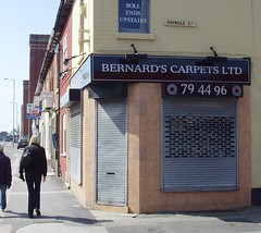 Bernard's Carpet shop in Preston (Tony Worrall Foto) Tags: road street uk england urban bernard shop out outside closed northwest candid north lancashire preston carpets lancs newhalllane comedinewithme