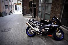 going APE! (Sinong Tatay Mo?) Tags: seattle sony motorcycle pikeplacemarket tamron pnw postalley aprilia a700 shuttertour