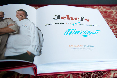 Autographed 3 Chefs Cookbook