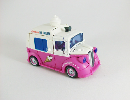 Transformers Skids & Mudflap RotF Deluxe Ice Cream Truck - modo alterno