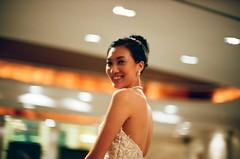 Carly - the gorgeous Bride of 2009 (adamchan25) Tags: wedding woman film girl beautiful 50mm bride focus pretty fuji iso400 voigtlander bessa hong kong mf banquet manual dim f11 nokton xtra r2m
