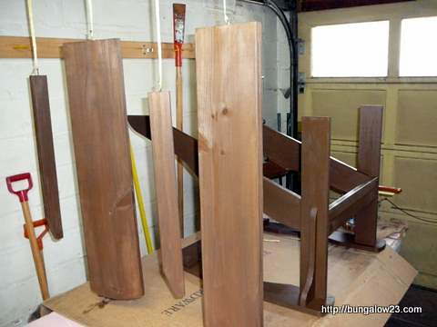 Staining Chair Parts