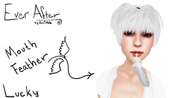 Mouth Feather (RadioSignals) Tags: bird dove feather free secondlife lucky scribble freebie