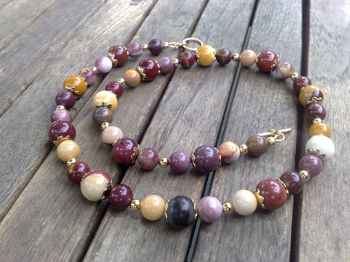 Moukaite jasper necklace
