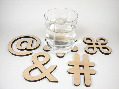 Typographic Coasters