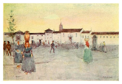 003-Resplandor crepuscular en Braga-Through Portugal 1907- A.S. Forrest