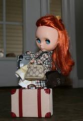 Honey....where are you going? (gemini angel's art and dolls) Tags: girl doll seville redhead blythe scared suitcase unhappy poorgirl hittheroadjack bagsarepacked feelingunloved vsmashnottobecustomized