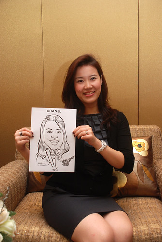 Caricature live sketching for Chanel Day 1 - 1b