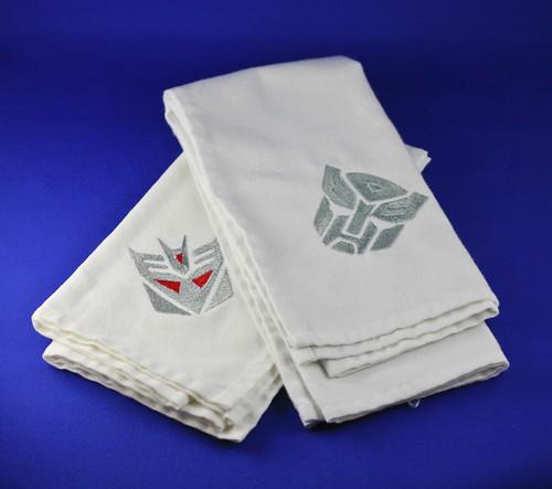 Transformers linen napkins.