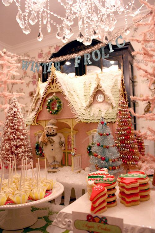 más casas de galleta navideñas y otros dulces
