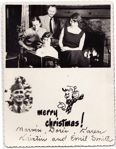 wartime christmas family card